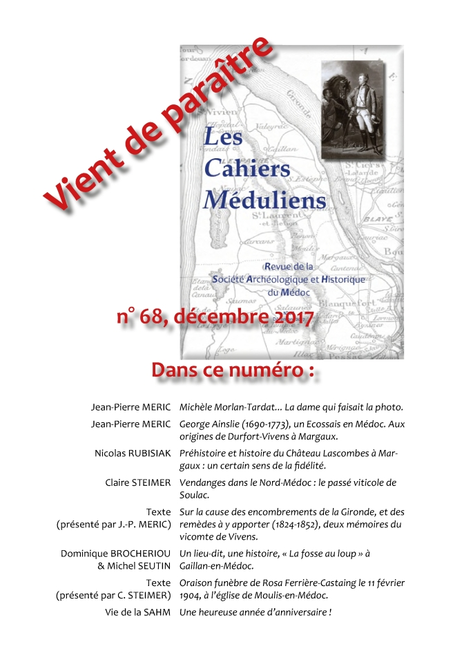 Affichette N°68 Cahiers Méduliens