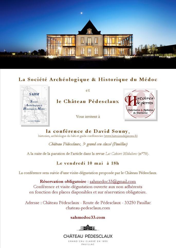 InvitationSAHM_conferenceDavidSouny_Pedesclaux